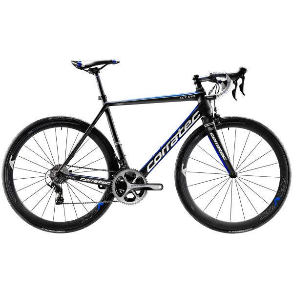 Corratec CCT EVO Ultegra Di2 11 Fach 52 / 36 schwarz, blau - 2016 Rennrad